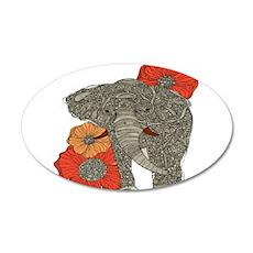 Jewel Elephant 22x14 Oval Wall Peel