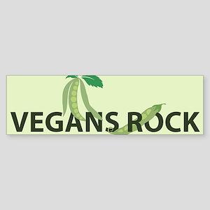 Vegans Rock w/ Pea pods Bumper Sticker