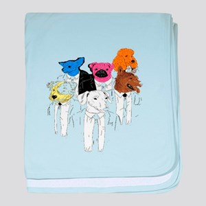 Executive Dogs baby blanket