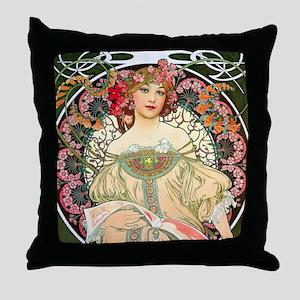 Mucha - F. Champenois Throw Pillow