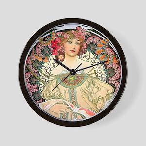 Mucha - F. Champenois Wall Clock