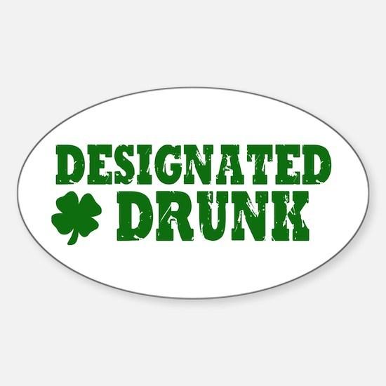 Designated DRUNK Funny Sticker (Oval)