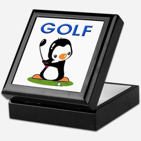 Golf Penguin (1) Keepsake Box
