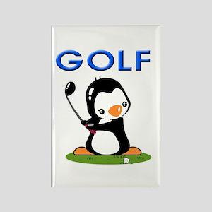 Golf Penguin (1) Rectangle Magnet