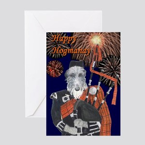 Scottish hogmanay greeting cards cafepress happy hogmanay greeting card m4hsunfo