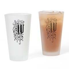 Letter W Drinking Glass