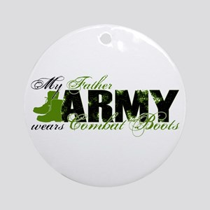 Father Combat Boots - ARMY Ornament (Round)