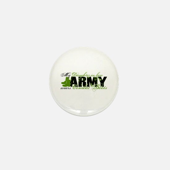 Daughter Law Combat Boots - ARMY Mini Button