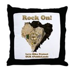 Save Our #PublicLands Throw Pillow