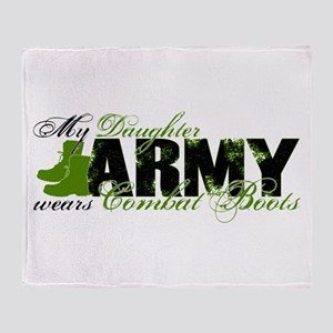 Daughter Combat Boots - ARMY Throw Blanket