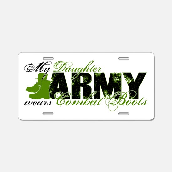 Daughter Combat Boots - ARMY Aluminum License Plat