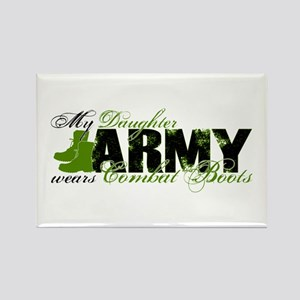 Daughter Combat Boots - ARMY Rectangle Magnet