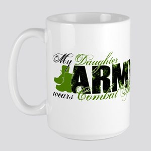 Daughter Combat Boots - ARMY Large Mug