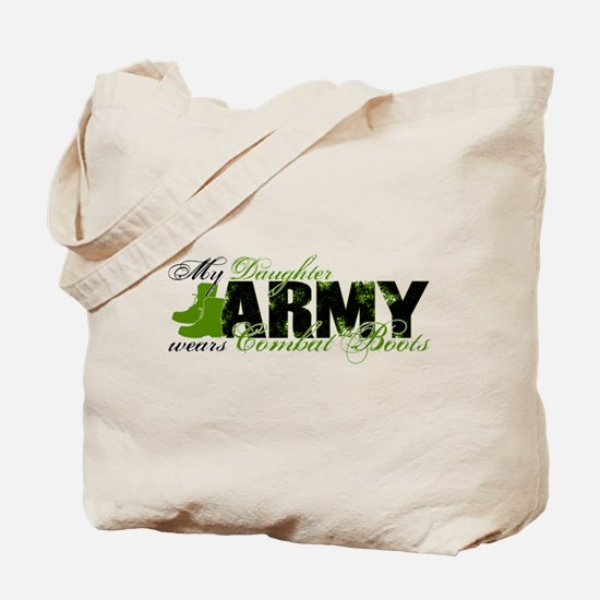 Daughter Combat Boots - ARMY Tote Bag