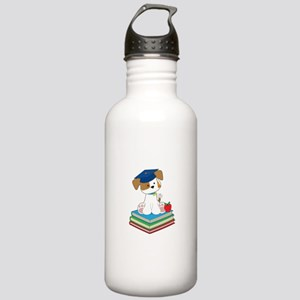 Cute Puppy Graduate Stainless Water Bottle 1.0L