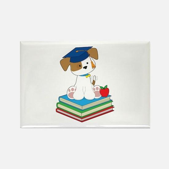 Cute Puppy Graduate Rectangle Magnet