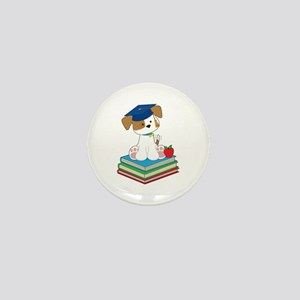 Cute Puppy Graduate Mini Button