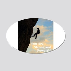 You Are Strong and Powerful 22x14 Oval Wall Peel