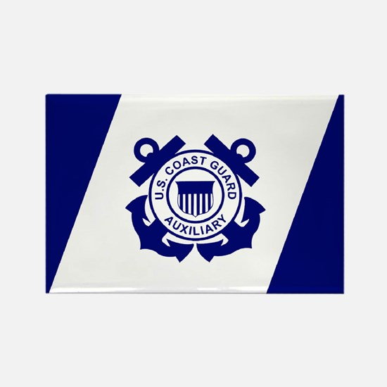 USCG Auxiliary Flag<BR> Horizontal Magnet