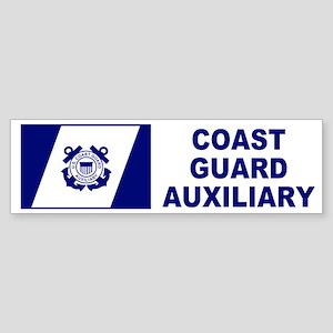USCG Auxiliary Flag<BR> Bumper Sticker 2