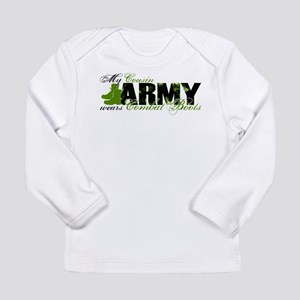 Cousin Combat Boots - ARMY Long Sleeve Infant T-Sh