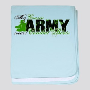 Cousin Combat Boots - ARMY baby blanket
