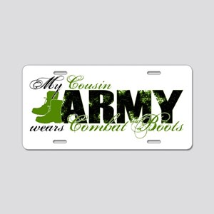 Cousin Combat Boots - ARMY Aluminum License Plate