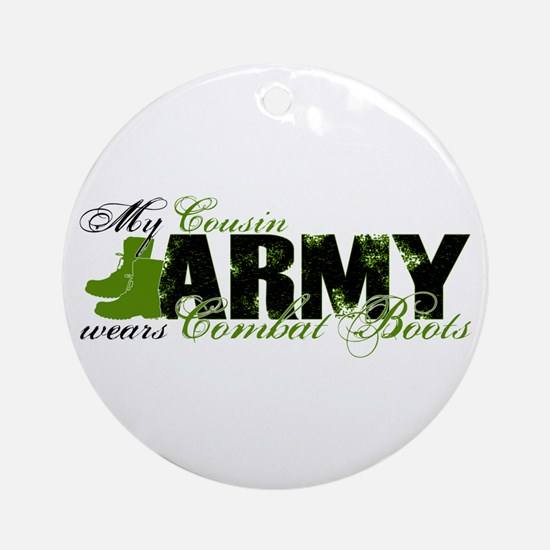 Cousin Combat Boots - ARMY Ornament (Round)