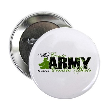 """Cousin Combat Boots - ARMY 2.25"""" Button"""