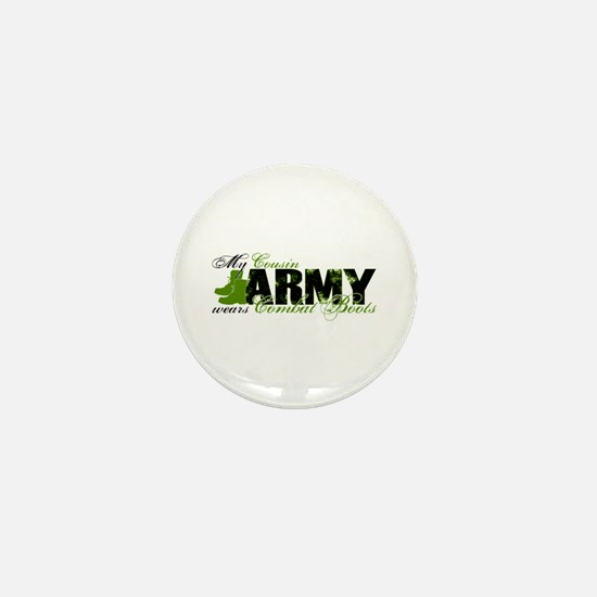Cousin Combat Boots - ARMY Mini Button