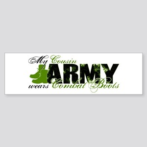 Cousin Combat Boots - ARMY Sticker (Bumper)