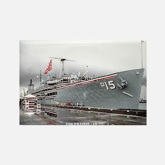 USS PRAIRIE Rectangle Magnet