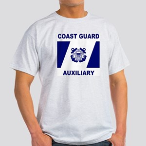 USCG Auxiliary Flag<BR> Grey T-Shirt 2