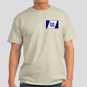 USCG Auxiliary Flag<BR> Grey T-Shirt 1