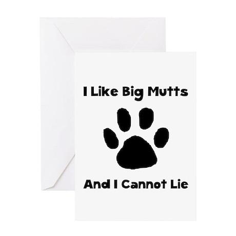Big Mutts Greeting Card