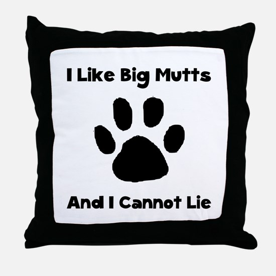 Big Mutts Throw Pillow
