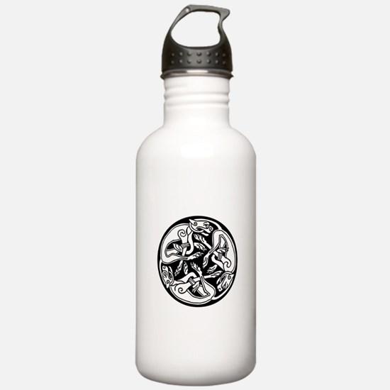 Round Celtic Dogs Water Bottle