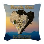 Save Our #PublicLands Woven Throw Pillow