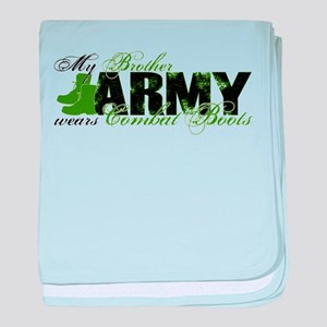Bro Combat Boots - ARMY baby blanket