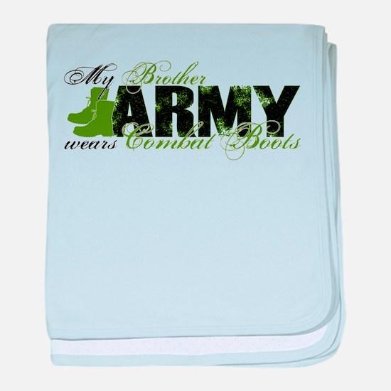 Bro Combat Boots - ARMY baby blanket
