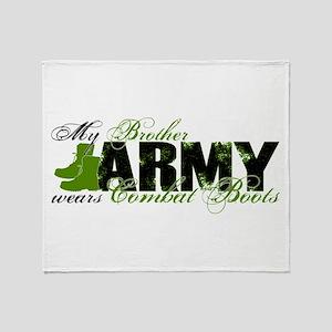 Bro Combat Boots - ARMY Throw Blanket