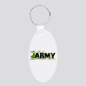 Bro Combat Boots - ARMY Aluminum Oval Keychain
