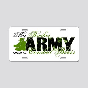 Bro Combat Boots - ARMY Aluminum License Plate