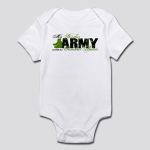 Bro Combat Boots - ARMY Infant Bodysuit