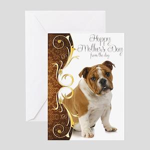 Bulldog Mother's Day Card