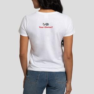 Women's T-Shirt Double Sided Obama vs. Romney
