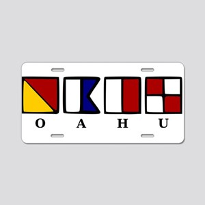 nautical Oahu Aluminum License Plate
