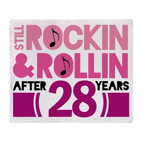28th Anniversary Funny Gift Throw Blanket