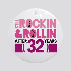 32nd Anniversary Funny Gift Ornament (Round)
