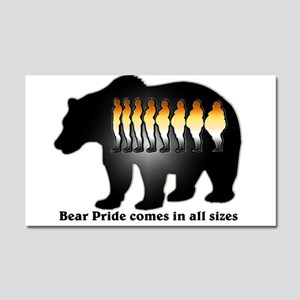 Bear Pride comes in all sizes Car Magnet 20 x 12